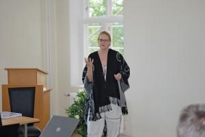 Forsker Evelin Lindner på Landeskogen