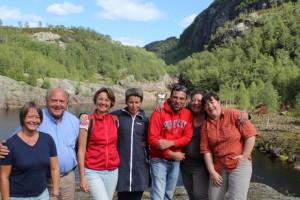 Gruppebilde ved Dorga bro